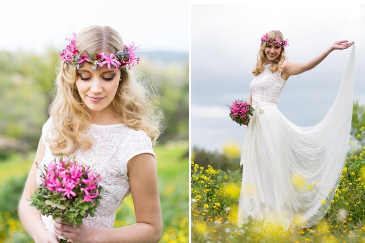 hair / make up : uta stabler  photography : franziska pilz bridaldress : calesco